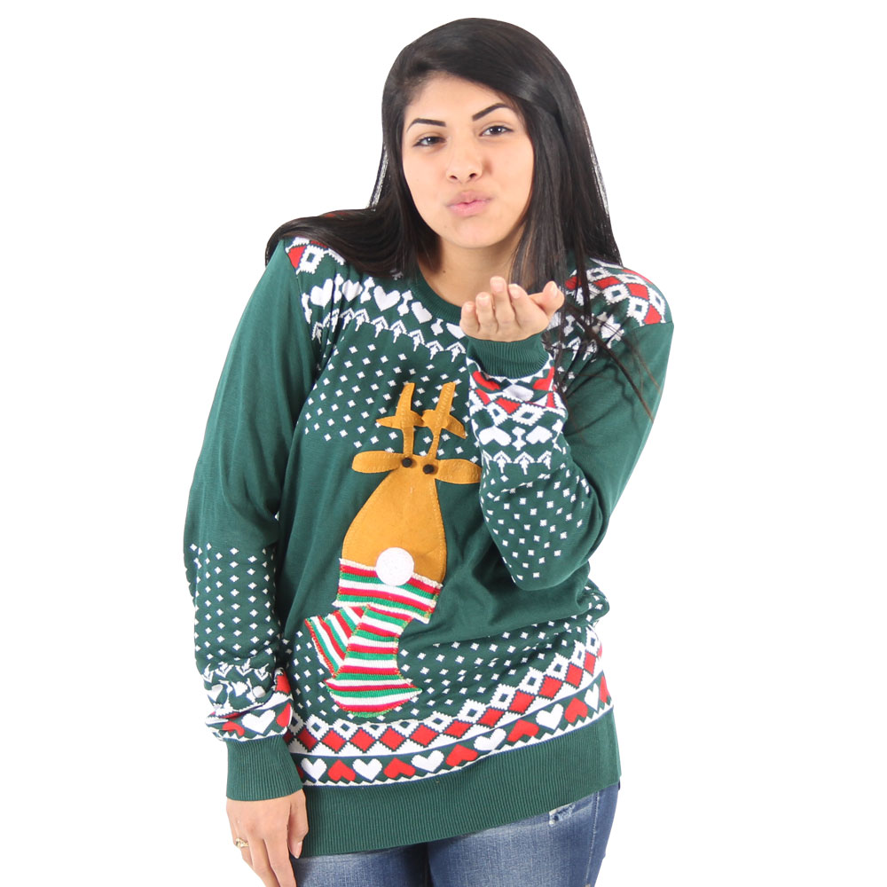 green-reindeer-led-sweater