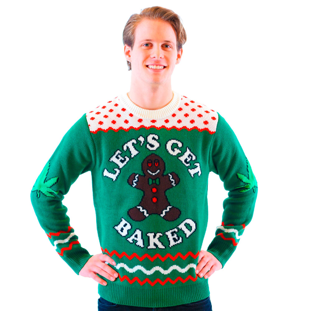 lets get baked sweater - Feel The Joy Christmas Sweater