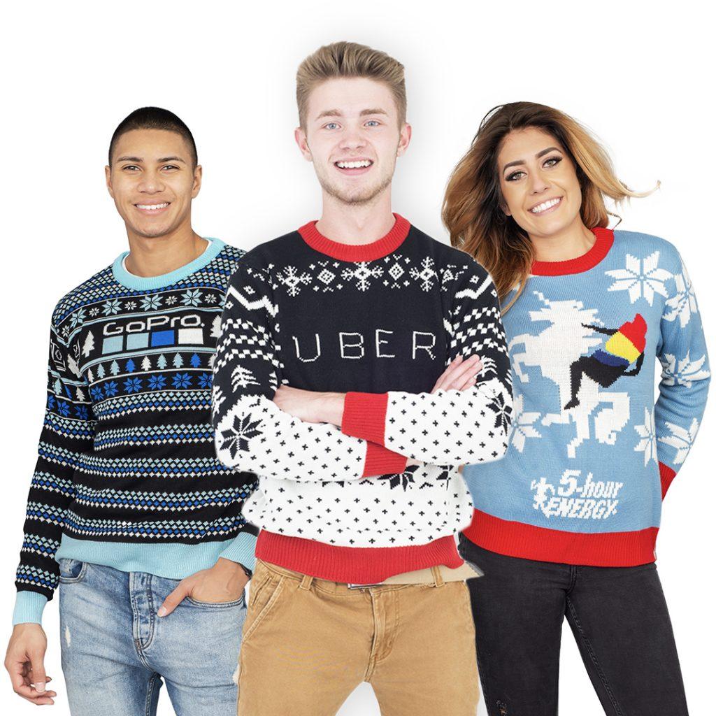 GoPro Uber 5 Hour Energy Ugly Christmas Sweaters